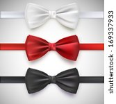 realistic white  black and red... | Shutterstock .eps vector #169337933