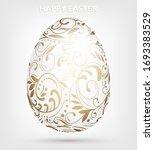 Decorative Hand Drawn White Egg ...