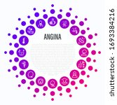 angina symptoms in circle shape.... | Shutterstock .eps vector #1693384216