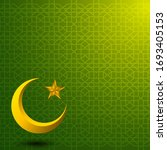 green islamic background for... | Shutterstock .eps vector #1693405153