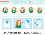 symptoms of covid 19... | Shutterstock . vector #1693435330