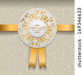 vector invitation card with... | Shutterstock .eps vector #169346633
