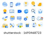 flat design concept icons... | Shutterstock .eps vector #1693468723