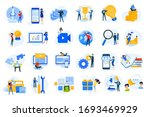 flat design concept icons... | Shutterstock .eps vector #1693469929