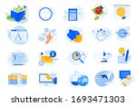flat design icons collection.... | Shutterstock .eps vector #1693471303