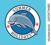 cute dolphin cartoon...   Shutterstock .eps vector #1693474480