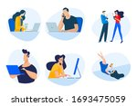 flat design concept icons... | Shutterstock .eps vector #1693475059