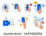 flat design icons collection.... | Shutterstock .eps vector #1693482856