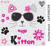 cat head vector illustration | Shutterstock .eps vector #169348298