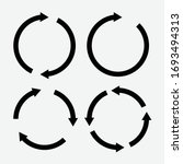 set of black circle vector... | Shutterstock .eps vector #1693494313