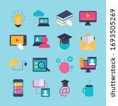 bundle of education online set... | Shutterstock .eps vector #1693505269