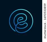 e letter logo in a circle....   Shutterstock .eps vector #1693533859