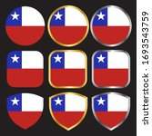 chile flag vector icon set with ... | Shutterstock .eps vector #1693543759