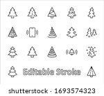 christmas tree thin line icon... | Shutterstock .eps vector #1693574323