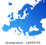 europe map | Shutterstock .eps vector #16935745
