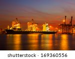 shipping port in thailand. | Shutterstock . vector #169360556