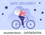 safe delivery and courier... | Shutterstock .eps vector #1693606546