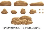 a pile of brown rock stones for ... | Shutterstock .eps vector #1693608043