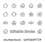 set of house vector home line... | Shutterstock .eps vector #1693609729