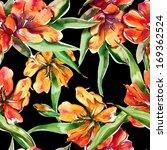 tulips seamless pattern | Shutterstock . vector #169362524