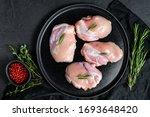 Raw Chicken Thigh Fillet...