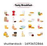 vector set of breakfast  ... | Shutterstock .eps vector #1693652866