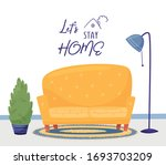 lettering let's stay home. the... | Shutterstock .eps vector #1693703209