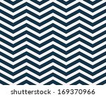 Navy Blue  And White Zigzag...