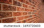Old Red Bricked Wall With...