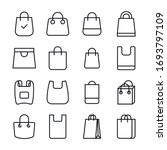 icon set of shopping bag.... | Shutterstock .eps vector #1693797109