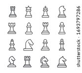 Set Of Chess Related Vector...