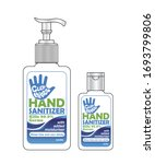 hand sanitizer label design... | Shutterstock .eps vector #1693799806