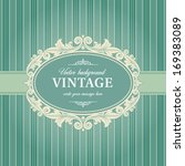 vintage background frame... | Shutterstock .eps vector #169383089