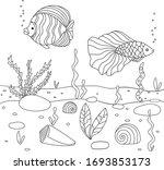 vector illustration with algae  ...   Shutterstock .eps vector #1693853173