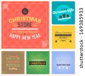 christmas badge  tags  labels ... | Shutterstock .eps vector #169385933