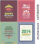 christmas party flyer poster... | Shutterstock .eps vector #169386008