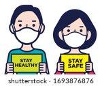 coronavirus disease public...   Shutterstock .eps vector #1693876876