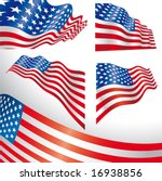 set of classics usa flags... | Shutterstock .eps vector #16938856