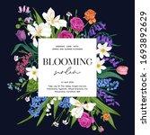 wedding invitation. blooming...   Shutterstock .eps vector #1693892629