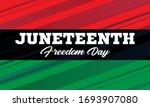 juneteenth freedom day. african ... | Shutterstock .eps vector #1693907080