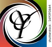 calligraphic letter vector... | Shutterstock .eps vector #169393664