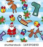 christmas seamless background.  | Shutterstock . vector #169393850