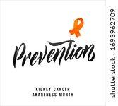 vector kidney cancer awareness... | Shutterstock .eps vector #1693962709