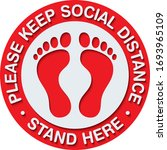 social distancing signage or...   Shutterstock .eps vector #1693965109