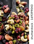 Nuts And Dried Fruits Mix On...