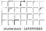 set hand draw of corners...   Shutterstock .eps vector #1693995883