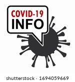 covid 19 info. sticker for... | Shutterstock .eps vector #1694059669