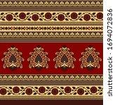 seamless abstract motif pattern ...   Shutterstock .eps vector #1694072836