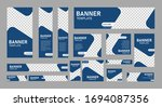 set of creative web banners of... | Shutterstock .eps vector #1694087356