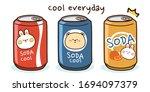 cute cartoon animal on soda can ...   Shutterstock .eps vector #1694097379